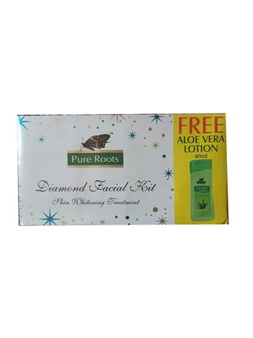 Pure Roots Diamond Facial Kit + 40ml Pure Aloe Vera Body Lotion