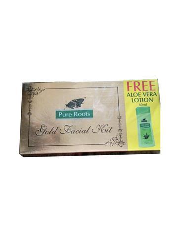 Pure Root Gold Facial Kit + 40ml Aloe Vera lotion free
