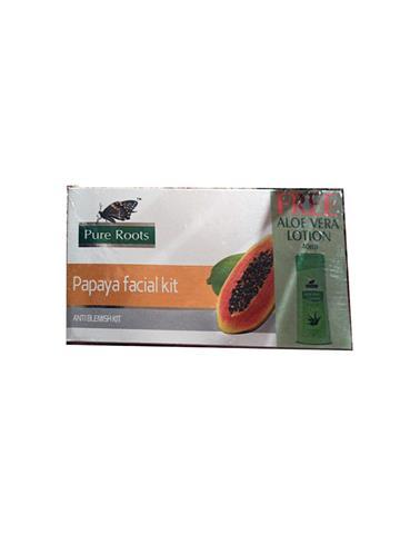 pure root papaya facial kit + 40ml Aloe Vera lotion free