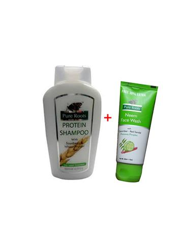 Pure Roots Protein Shampoo, 500 ml + free Neem Face Wash 50 ml