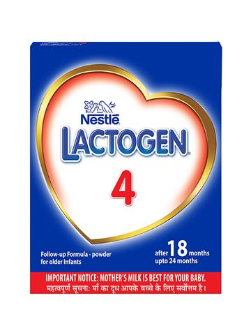 Nestle LACTOGEN 4 Follow-Up Formula Powder - After 18 months upto 24 months, Stage 4, 400g
