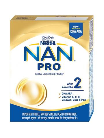 Nestle Nan 2 Pro Stage 2 Follow-up Formula Powder, 400g
