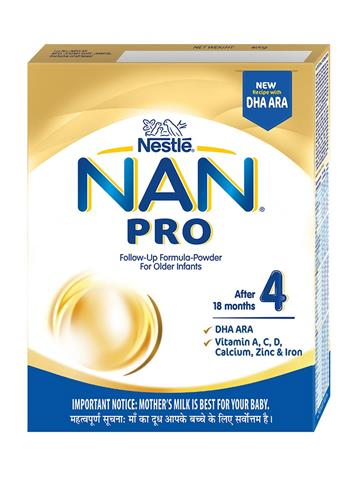 Nestle Nan 4 Pro Follow-Up Infant Formula Powder, After 18 months, 400g