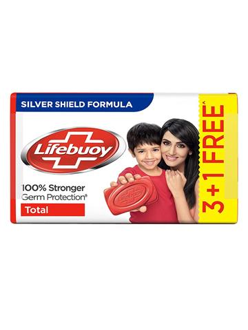 Lifebuoy,soap, Germ protection Total 3+1 Free