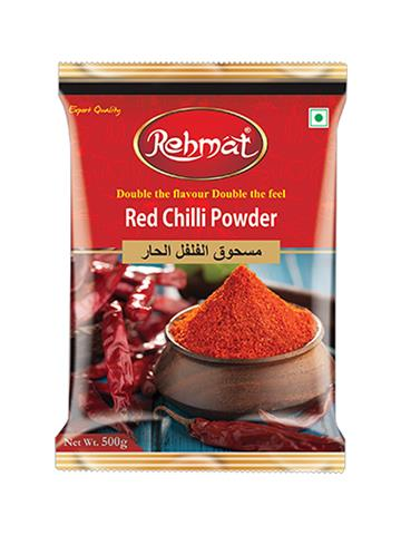Rehmat Red Chilli Powder Pouch Pack (500g)