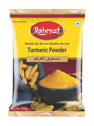 Rehmat Turmeric (Haldi) Powder Pouch Pack (500g)