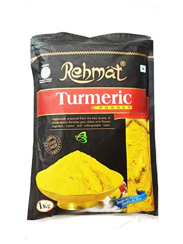 Rehmat Turmeric (Haldi) Powder Pouch Pack (1kg)