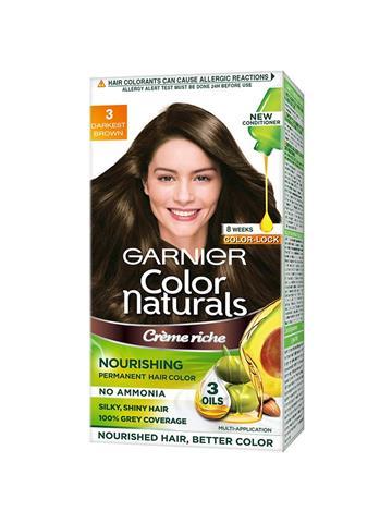 Garnier Color Naturals Crème hair color, Shade 3 Darkest Brown