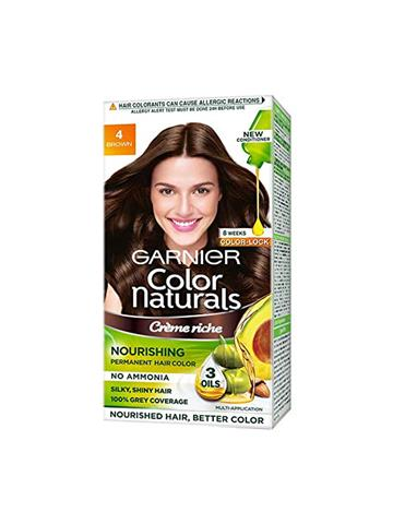 Garnier Color Naturals Crème hair color, Shade 4 Brown
