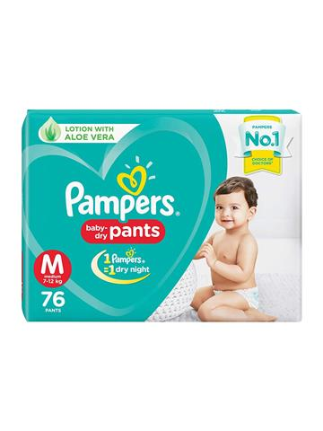 Pampers New Diaper Pants, Medium, 76 Pieces