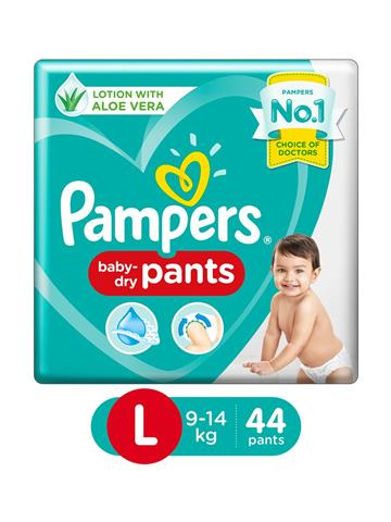 Pampers Pant Style Diapers Large Size - 44 Pieces