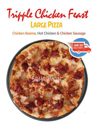 Tripple Chicken Feast -  Etalian Pizza - Large