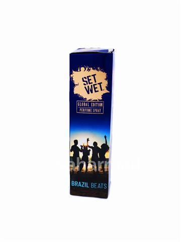 Set Wet Perfume Spray Brazil Beats  120ml