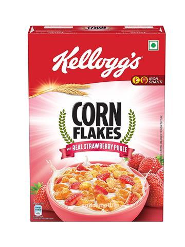 kellogg's corn flakes real strawberry puree (300g)