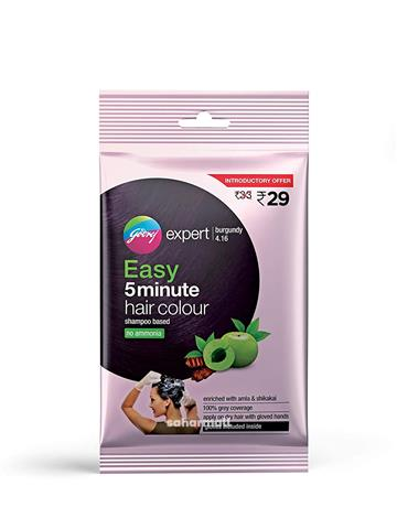 Godrej Expert Easy 5 Minute Hair color Sachet - burgundy, (20ml)