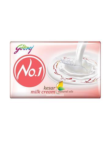 Godrej No.1 Bathing Soap – Kesar & Milk Cream  (63g)