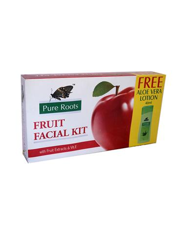 pure roots fruit facial kit free aloe vera lotion 40ml