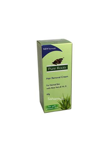 Pure Roots Hair Removal Cream For normal skin with aloe vera & vit E 60g