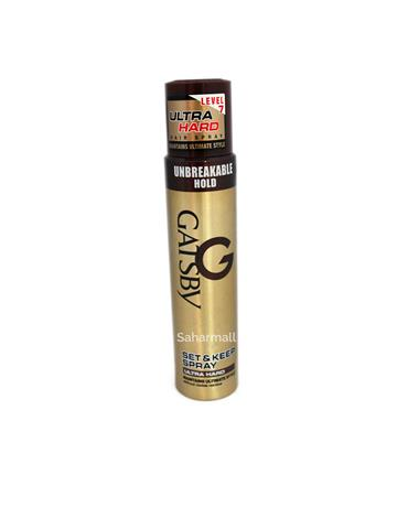 Gatsby Set & Keep hair Spray ultra hard level 7 unbreakable hold (250ml)
