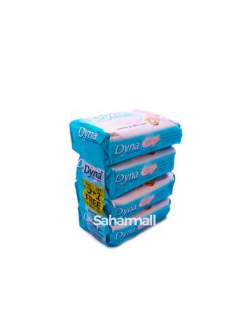 New Dyna premium Beauty - Jasmine & Milk Cream  125g - ( 3+1 ) Pack