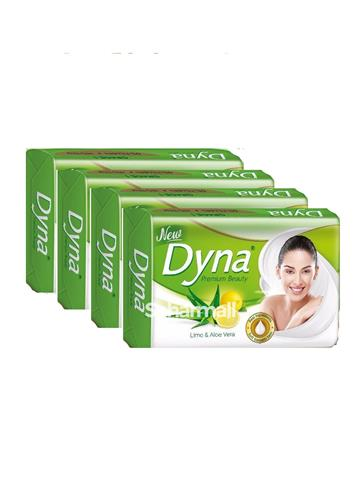 New Dyna premium Beauty - Lime & Aloe Vera 125g ( 3 + 1 ) Pack