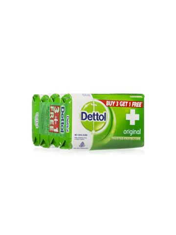 Dettol Original Germ Protection Bathing Soap, 75 g Buy 3 get 1 free ( Pack of 4 )