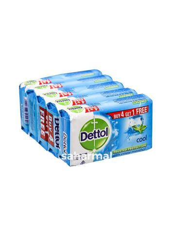 Dettol Intense Cool Menthol Soap, 125g Buy 4 get 1 free (Pack Of 5)