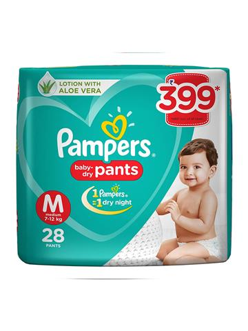 Pampers Pant Style Diapers Medium Size - 28 Pieces