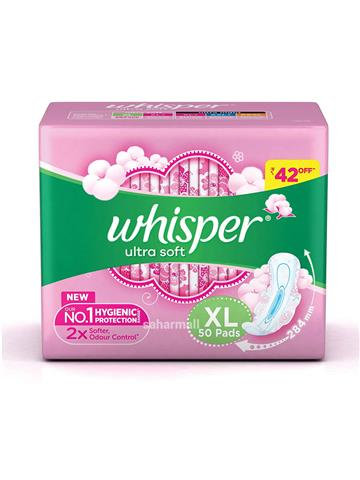 Whisper Ultra Soft XL (50 Pads)