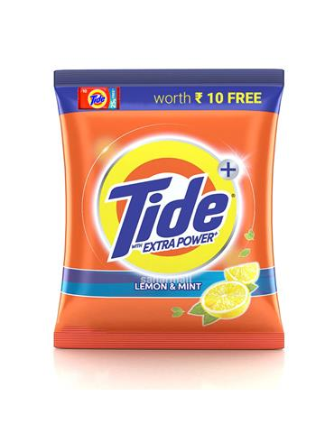 Tide Plus Detergent Washing Powder - Extra Power Lemon & Mint, 1 kg With Free Tide Bar