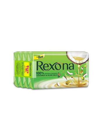 Rexona - Coconut And Olive Oils Body Soap 100g X 4N