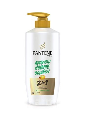 Pantene Pro V Advanced Solution 2 in 1 Hair Fall Shampoo + Conditioner Silky Smooth Care( 650 ml)
