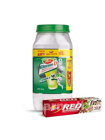 Dabur Glucose D Energy Boost 1 Kg Pet Jar Free dabur Red Paste Worth 95
