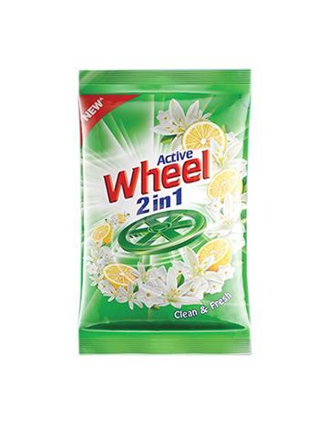 Active Wheel 2 In 1 Clean & Fresh Detergent Powder 1kg
