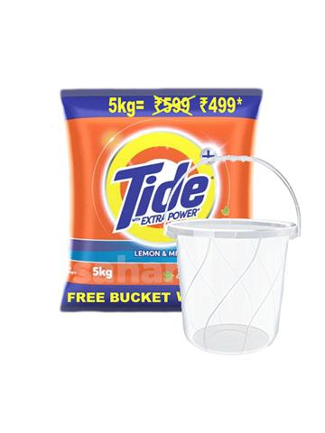 Tide detergent 5kg with bucket free