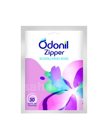 Odonil Zipper Scintillating Rose Bathroom Air Freshener - 10g