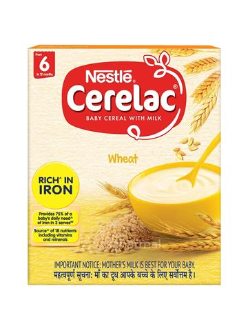 Nestle Cerelac  Baby Cereal With Milk - Wheat - From 6 to 12 months (300g)