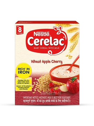 Nestle Cerelac Baby Cereal With Milk Wheat Apple 300g