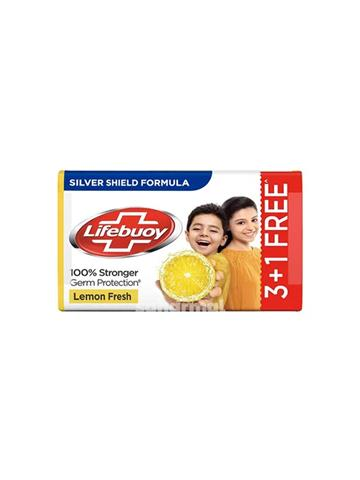 Lifebuoy, soap,Lemon Fresh ( Pack Of 4 ) 125g each