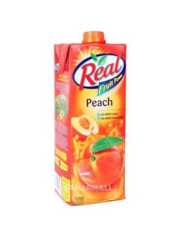 Real Peach Soft Drink Juice  1 Lt