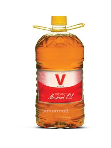 V Brand Kacchi Ghani Mustard Oil 5ltr