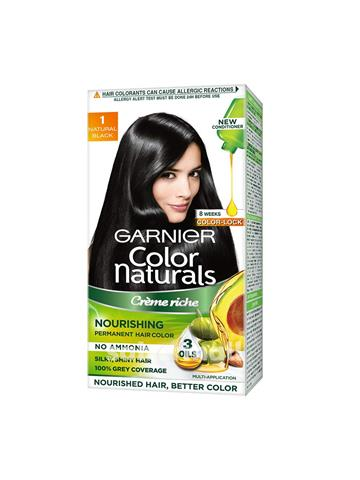 Garnier Color Naturals Creme hair color, Shade 1 Natural Black (35ml + 30g)