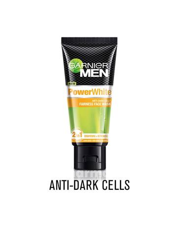 Garnier Men Power White anti dark cells  Fairness Face Wash, 50g