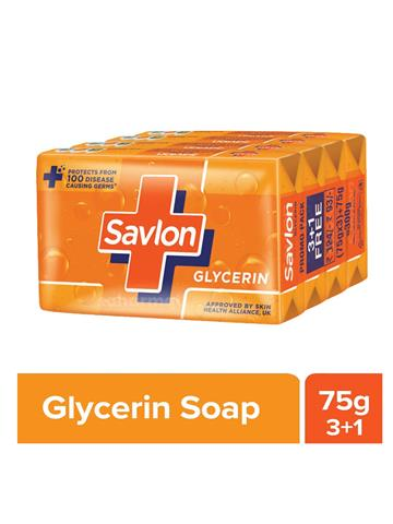 Savlon Glycerin Soap, 75g x 3+1
