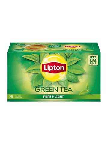 Lipton green tea pure & light 25 tea bags 1.3g each