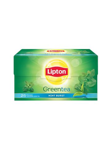 Lipton green tea mint burst 25 tea bags 1.3g each