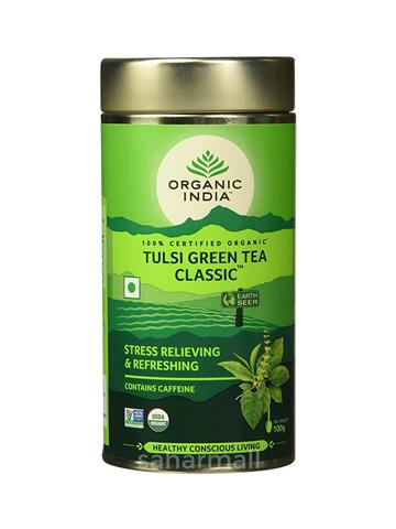 Organic India Tulsi Green Tea, Classic 100g