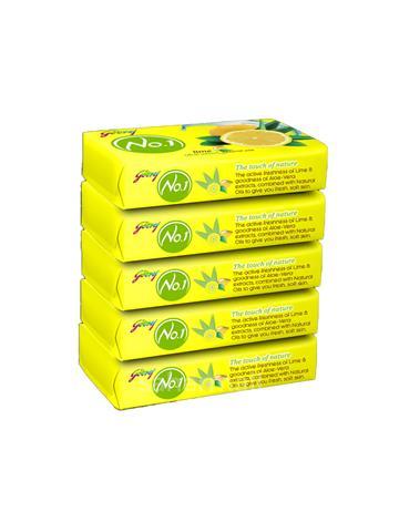 Godrej No.1 Lime Aloe Vera Soap 5X100G