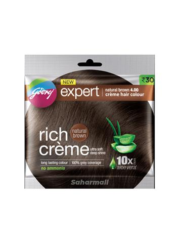 Godrej Expert Rich Creme (4.0) , Natural Brown 20g + 20ml