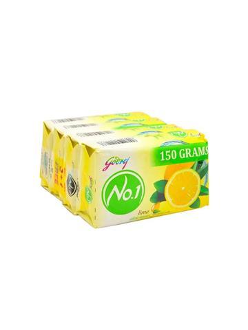 Godrej No.1 Lime Aloe Vera natural oils Soap 150gmx 4 (Buy 3 get 4)